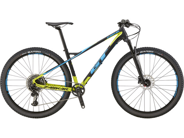 GT Bicycles Zaskar Carbon Pro satin raw/chartreuse/cyan